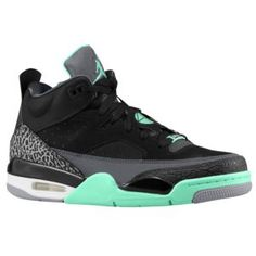 new arrival 672b7 d824c Jordan Son of Mars Low - Men s - Basketball - Shoes -  Black Anthracite Cement Grey Green Glow