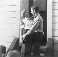 Carolyn and Neal Cassady embrace for amateur photographer Jack Kerouac in a snapshot taken in San Francisco in 1951