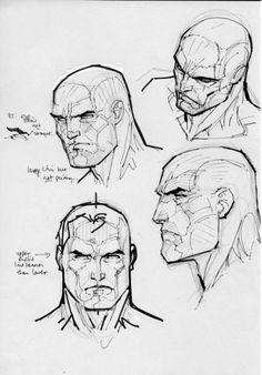 Sketchs by Jim Lee Anatomy Sketches, Anatomy Drawing, Anatomy Art, Art Sketches, Comic Book Artists, Comic Artist, Comic Books Art, Draw Faces, Comic Book Drawing