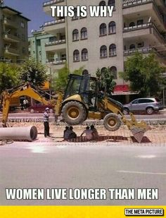 Men doing what men usually do, something dumb and dangerous....