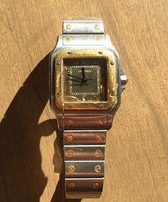 CARTIER SANTOS WATCH STEEL MENS WATCH - http://menswomenswatches.com/cartier-santos-watch-steel-mens-watch/ COMMENT.