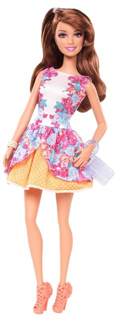 Barbie Fashionista Party Glam Teresa Doll, Floral Dress by Mattel (746775289768) Barbie Fashionista Party Glam Teresa Doll, Floral Dress by MattelBarbie doll has big plans for a fabulous summer: glam parties, garden parties and fun in the sun - sometimes all in one! Dressed in pretty party dresses, the Fashionistas will be the blossoms of every ball! Picture-perfect Teresa doll is ready for anything dressed in a pretty floral dress with polka-dot underskirt. Adding even more glam to her ...