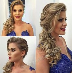 06 Party Frisuren von Leticia Rigolim – – - New Site Fancy Hairstyles, Bride Hairstyles, How To Make Hair, Ombre Hair, Hair Dos, Prom Hair, Bridal Hair, Hair Inspiration, Marie