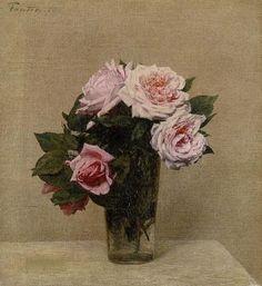 Roses - Henri Fantin-Latour, 1886