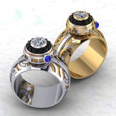 Geek Jewelry, Sci-Fi Jewelry, Fantasy Jewelry, Steampunk Jewelry, Jewelry to match your mood and your Bijoux Star Wars, Star Wars Jewelry, Geek Jewelry, Disney Jewelry, Jewelry Design, Star Wars Ring, Star Wars Schmuck, Disney Inspired Rings, Star Wars Wedding