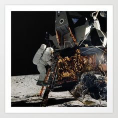 NASA Apollo 12 Lunar Module Space Craft - Astronaut Alan L. Bean 1969 Print Art Print by planetprints.wordpress.com - $14.00