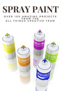 Spray Paint - Over 100 Amazing Spray Paint Projects that you'll want to check out! Pin for later!!!