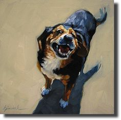 If Its Hip, Its Here: Great artist + Great Subject = Karin Jurick's Dog Paintings
