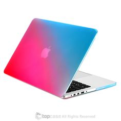 """Faded Ombre Hot Blue & Hot Pink UV High Glossy Hard Case for MacBook Pro 13"""" with Retina Display"""