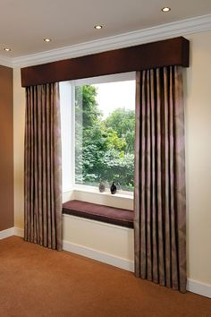 Contract Curtains & Pelmets for Hotels, Education & Healthcare Living Room Decor Curtains, Home Curtains, Modern Curtains, Curtain Designs For Bedroom, Wooden Valance, Curtain Pelmet, Window Treatments Living Room, Pelmets, Bedroom Layouts