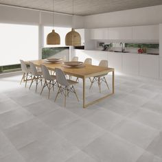 Inspiration for my Kitchen.  Floor: ILVA mediterranea Steel & White