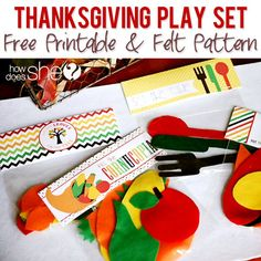 Thanksgiving Play Set – Free Printable & Felt Pattern