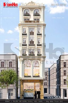 Mẫu thiết kế tòa nhà văn phòng mặt tiền đẹp được thiết kế tại trung tâm Hải Phòng