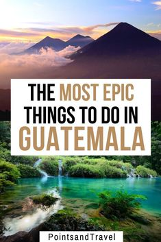 Here are the most epic things to do in Guatemala. Between volcanoes, lakes and rainforests, you will fall in love with Guatemala. There are so many things to discover for adventure seekers and nature lovers | Guatemala Travel Guide | What to do in Guatemala| Guatemala Itinerary | Guatemala Travel | Guatemala Activities| #guatemala