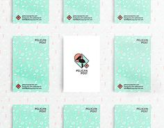 """Check out new work on my @Behance portfolio: """"Pelican Post Business Cards"""" http://be.net/gallery/51982269/Pelican-Post-Business-Cards"""