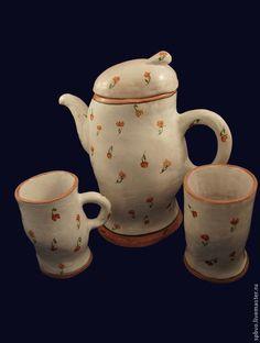 """Лепной чайник """"Розы"""" - прованс,чайник,интерьер,розочки,,керамика ручной работы"""