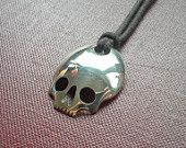 Items similar to Silver Skull Spoon Pendant on Etsy
