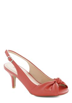 Some Like it Knot Heel in Coral, #ModCloth -i love the pun on the movie some like it hot :)