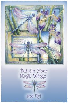 Bergsma Gallery Press::Paintings::Insects & Amphibians::Dragonflies::Put On Your Magik Wingz And Fly - Prints
