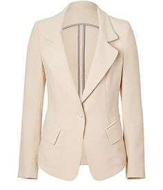 L'AGENCE  Butter High-Low Blazer