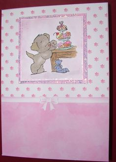 Made on holidays with free stamps from Cardmaking & Papercraft