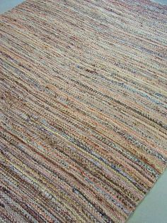 handwoven rug  (Love the colors, should make one for my studio)
