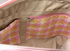 How to sew a zipper pocket inside a bag
