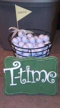 Golf Ball Bucket & T-time Sign $21