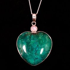 Chrysocolla Howlite Two Stone Heart Pendant CrystalAge http://www.amazon.com/dp/B007C33ACS/ref=cm_sw_r_pi_dp_j32Zub1J7H104