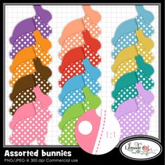 Assorted bunnies free clipart set
