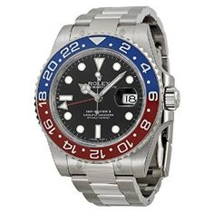 "Rolex GMT Master II with Red/Blue Bezel, affectionately known as the ""Pepsi Bezel"" @LinkCuffs #LinkCuffs #LuxuryWatches #MensWatches #Rolex #GMTMasterII #PepsiBezel Contact LinkCuffs@Outlook.com to get the Rolex Pepsi Bezel $4k below Amazon Price - I love this watch!"