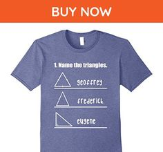 Mens Name The Triangles Math T-Shirt Medium Heather Blue - Math science and geek shirts (*Amazon Partner-Link)