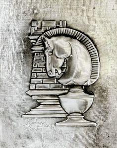 ArteyMetal: Placa decoración. Ajedrez 04