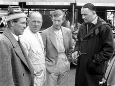 ... Parnell, Tony Brooks and Aston Martin team manager John Wyer in 1955