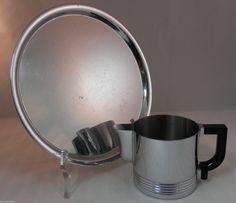 PV01556 Art Deco Chase Chrome Tray and Von Nessen Chrome Bakelite Creamer | eBay