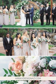 Blush Color Palette for Wedding Flowers - the perfect blush flowers and color palettes for the Arizona bride and groom. The colorful wedding color palettes are seen in bridal bouquet, bridesmaid bouquets, centerpieces and ceremony wedding flowers. Spring, winter, and fall wedding floral arrangements with blush flowers and blush floral accents for a Phoenix wedding ceremony and reception. Photos by Melissa Jill Spring Wedding Flower Inspiration, Spring Wedding Flowers, Floral Wedding, Fall Wedding, Wedding Ceremony, Reception, Blush Color Palette, Color Palettes, Sweet Pea Bouquet
