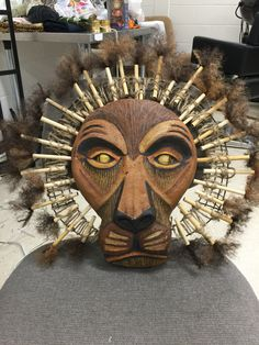 Mufasa headpiece! #CostumesToDo @broadwaycom
