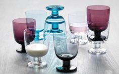 iittala Lempi, a stackable glass for all occasions, designed for everyday use. Lempi's universal shape is reminiscent of classic stemware with a modern twist. Designed by Matti Klenell, a 2012 Red Dot Design Award Winner. Design Shop, Dining Services, Shops, Kitchen Items, Kitchen Stuff, Open Shelving, Tech Accessories, Gift Guide, Wine Glass