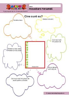 2 fise-de-lucru-dezvoltare-personala Kindergarten Worksheets, Preschool Activities, Visual Perception Activities, Little Einsteins, Fall Art Projects, School Frame, School Lessons, After School, Me On A Map