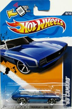 1969 Chevy Camaro Hot Wheels 2012 Muscle Mania #8/10 Blue TOYS R US ONLY RELEASE