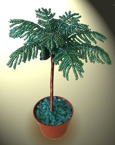 Seed Bead Palm Tree