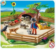 $21.99 Playmobil Pigs Enclosure  From PLAYMOBIL®   Get it here: http://astore.amazon.com/toys4kids09-20/detail/B004LQRO94/182-9808734-8939456