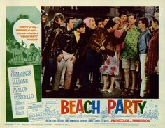 "Lobby Card for the AIP film ""Beach Party"" (1963), starring Annette Funicello and Frankie Avalon"