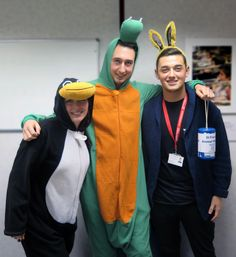 (L to R) Jade Moses, Elliot Prior and James Roberts held a animal themed dress down day in the WCC's offices. Their aim is raise a target on £500 for St Francis Animal Welfare, a local charity. They received a total of £159, which is a fantastic head start!