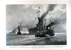 Bloqueo internacional de Montenegro en 1913. En primer término puede verse al destructor Ulan (1906) y detrás al acorazado Erzherzog Franz Ferdinand (1910)
