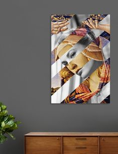 """Discover «Botticelli's """"Madonna of the Magnificat"""" & Grace Kelly», Exclusive Edition Canvas Print by Luigi Tarini - From $59 - Curioos"""