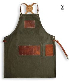 """BB OLIVE GREEN NEW HEAVY DUTY COTTON WORK APRON 33/"""" x 25/"""""""