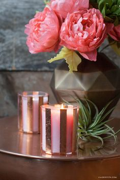 DIY Copper Candle from MichaelsMakers Lia Griffith