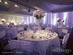 Gorgeous Silver decorated Wedding Reception