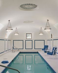 private indoor pool in Bloomfield Hills, Michigan